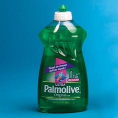 I used Palmolive Dish Soap from the kitchen as a substitute for shaving cream from the bathroom!